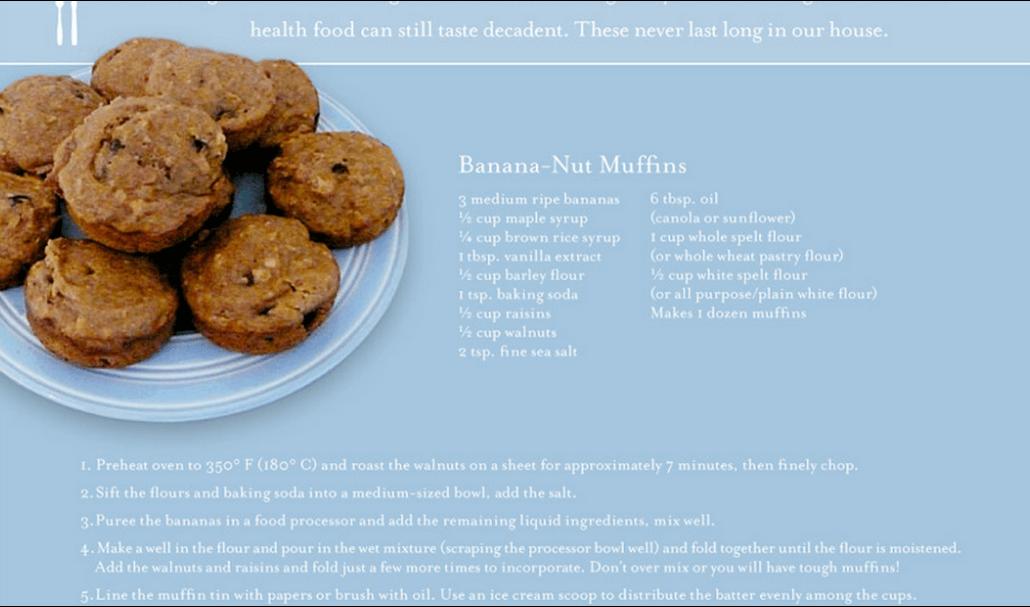 Bananen-Nuss-Muffins-Rezept