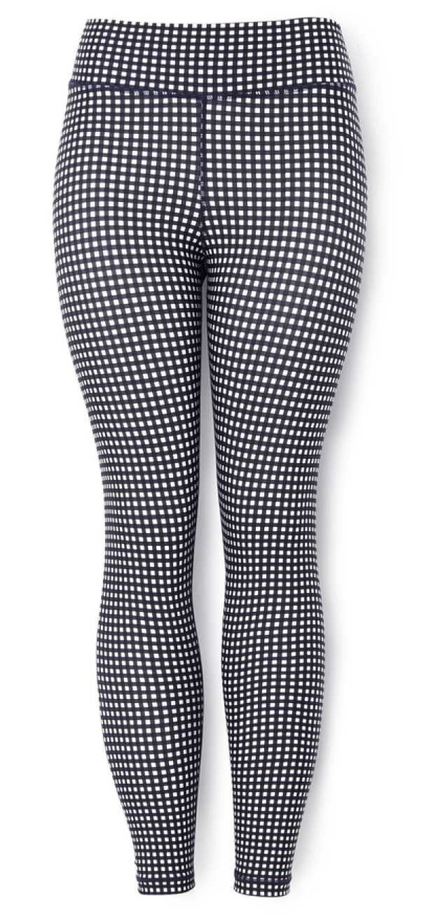 The Upside Gingham Midi Leggings