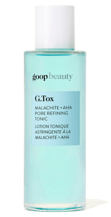 goop Beauty G.Tox Malachite + AHA Pore Refining Tonic