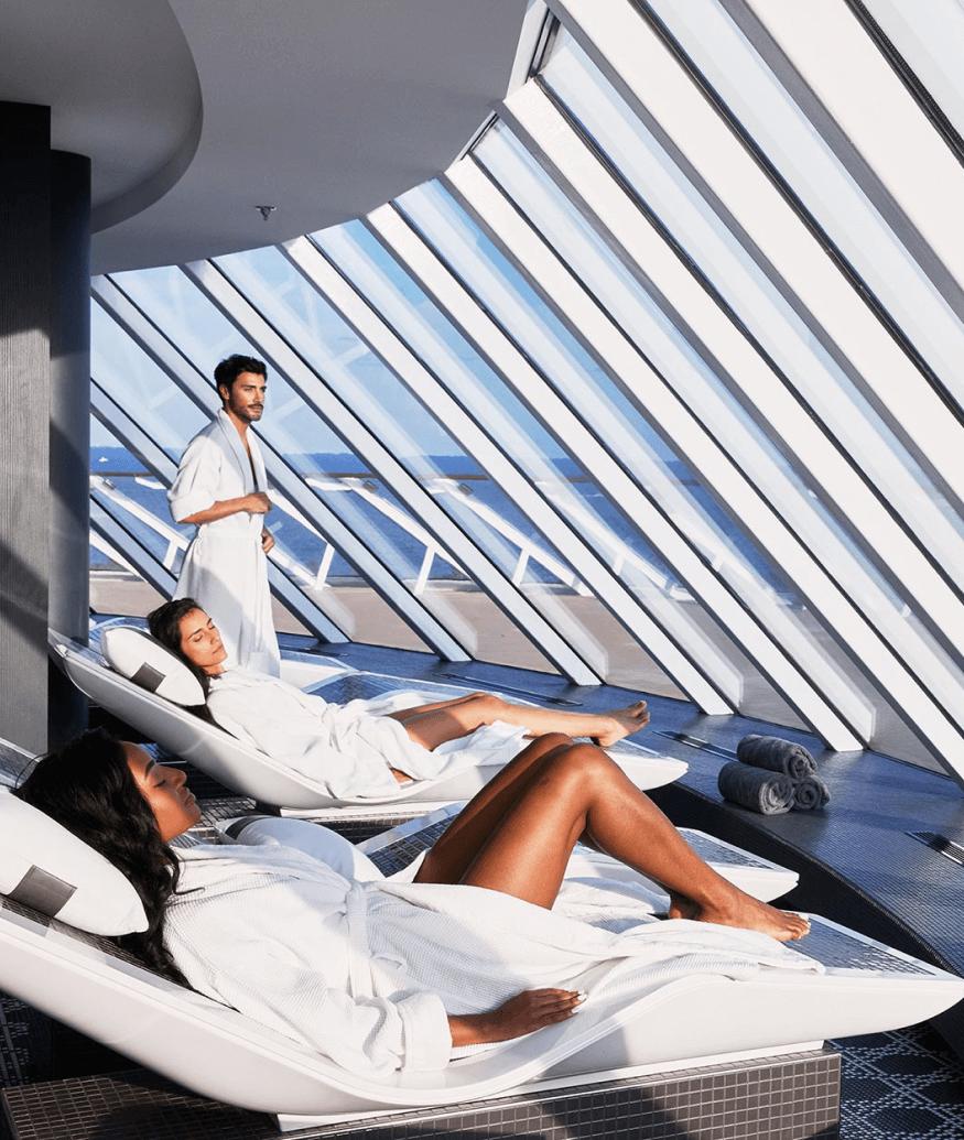 celebrity cruise lounge area