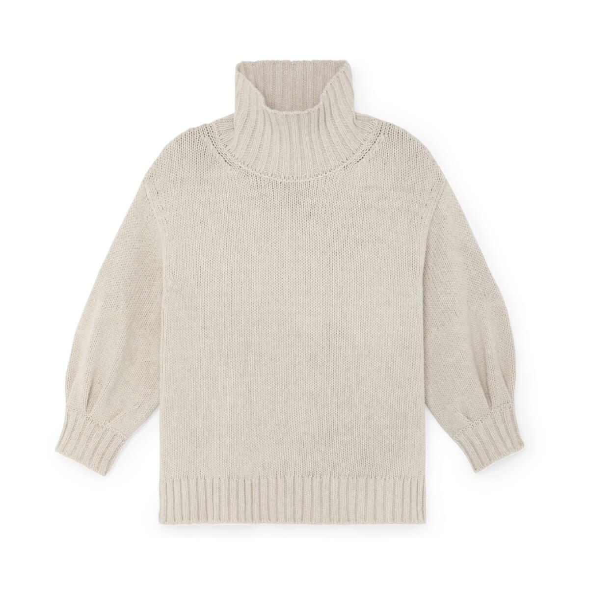 G.Label Evangelyn Puff-Sleeve Sweater