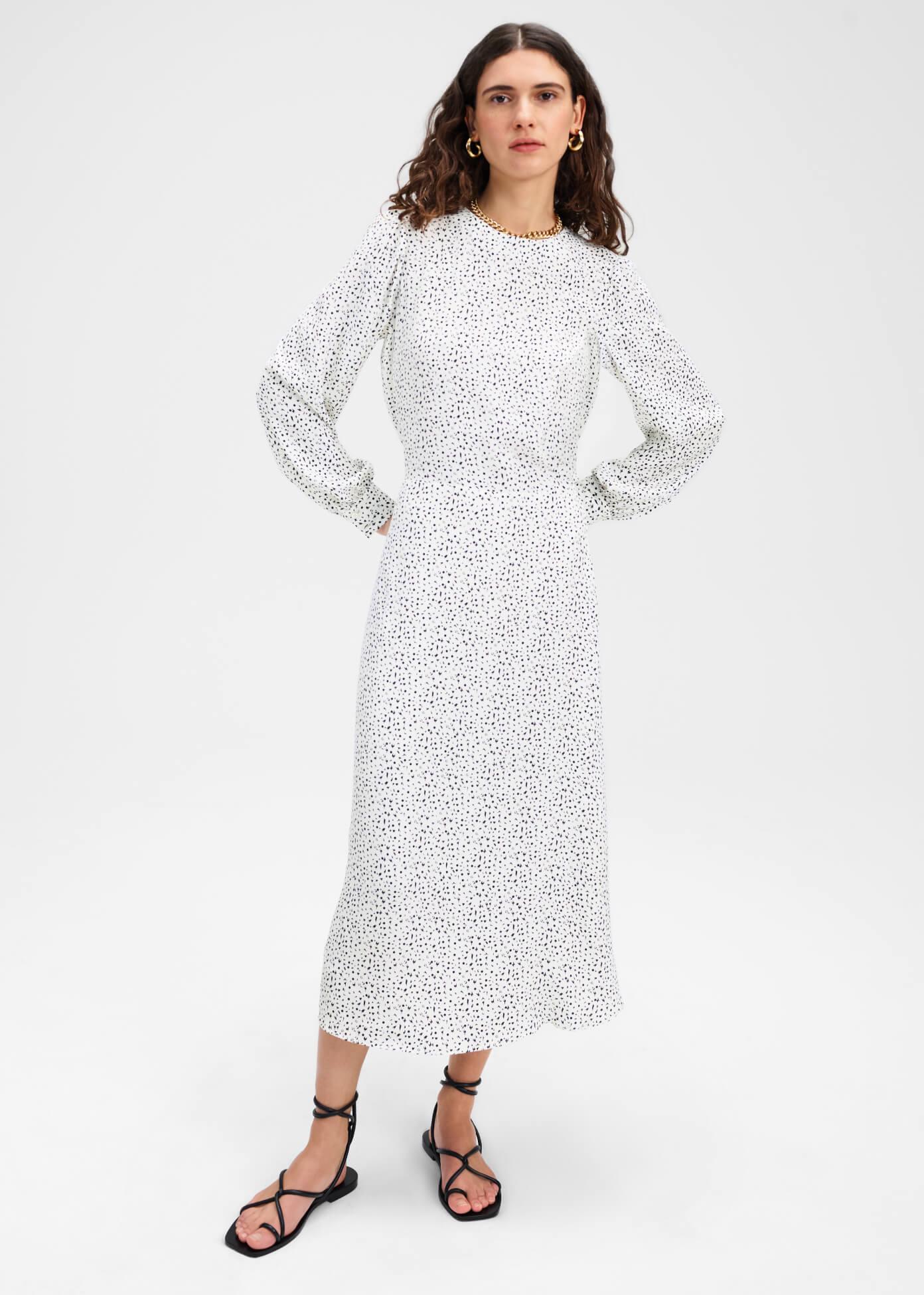 Citrine Printed Dress