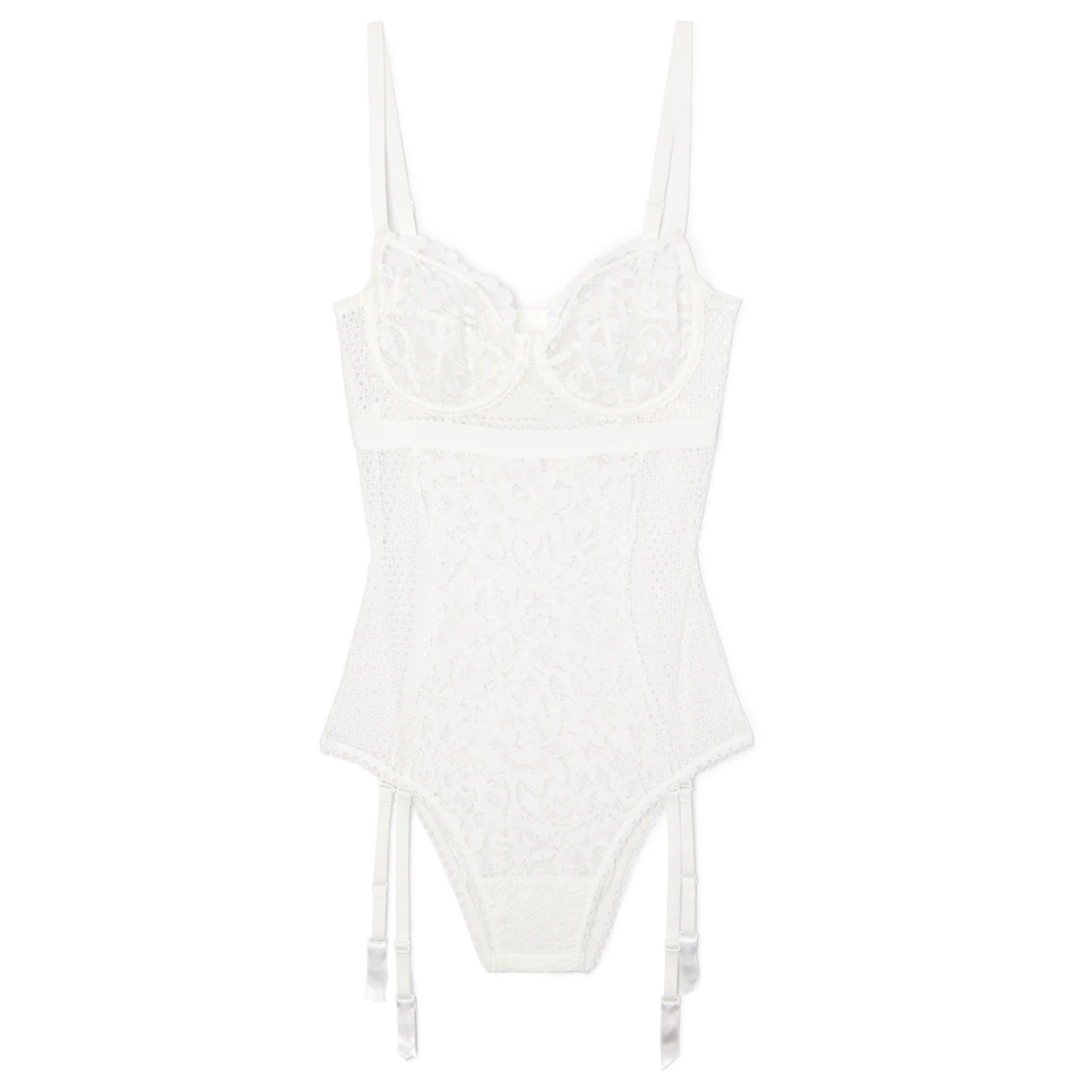 ELSE PETUNIA UNDERWIRE BODYSUIT WITH REMOVABLE SUSPENDERS