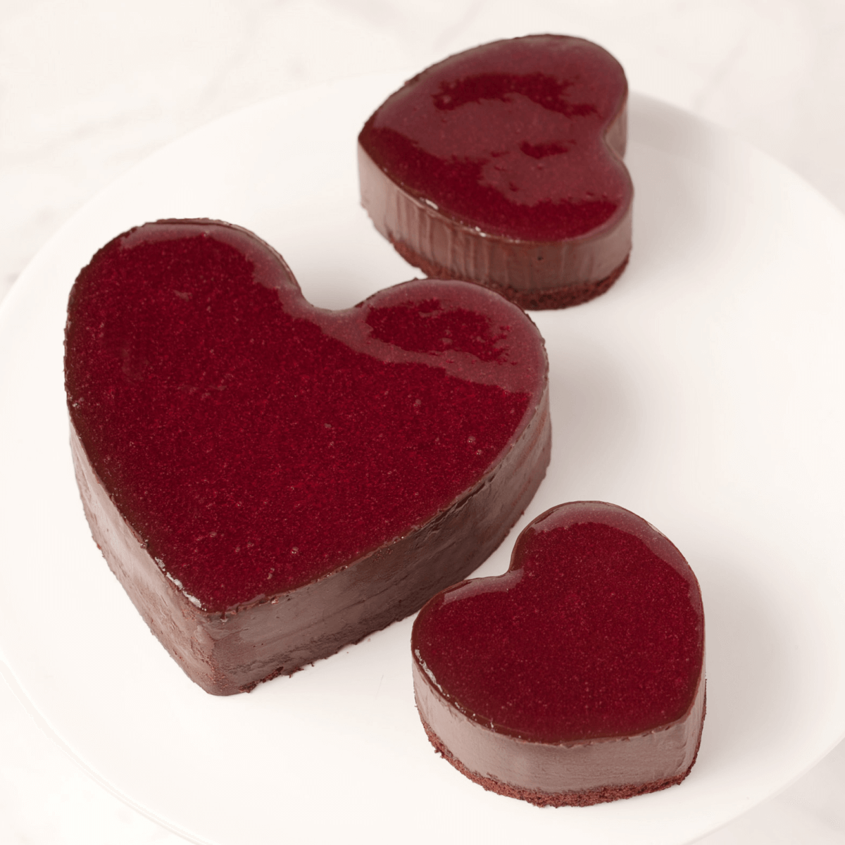 Lady M Heart-Shaped Cakes
