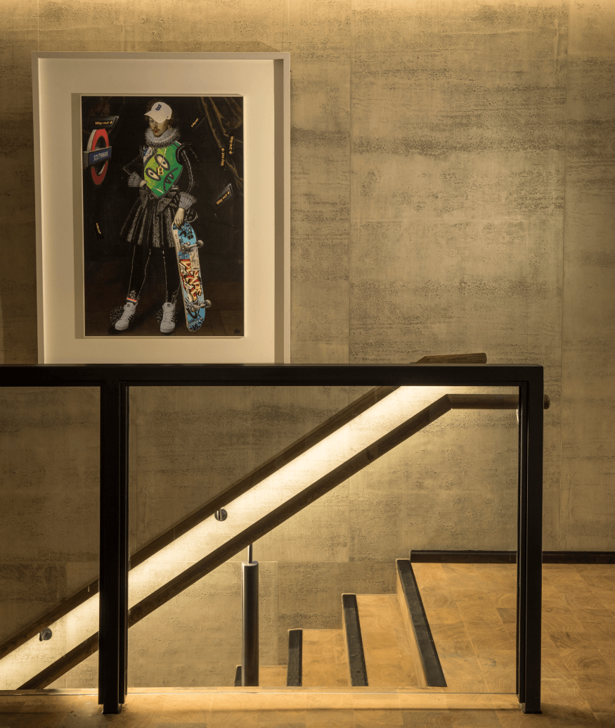 bankside hotel stairwell
