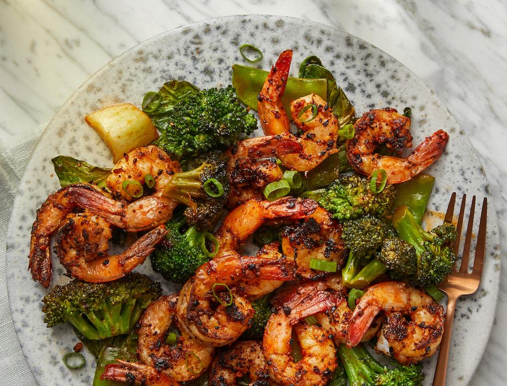 Shrimp Stir-Fry with Snow Peas andBroccoli