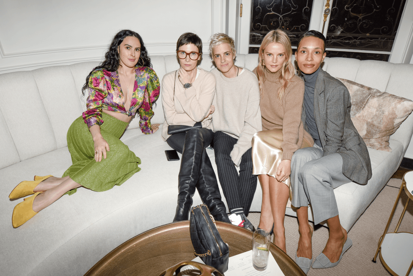 Rumer Willis, Cassandra Grey, Samantha Ronson, Kelly Sawyer, and TyLynn Nguyen