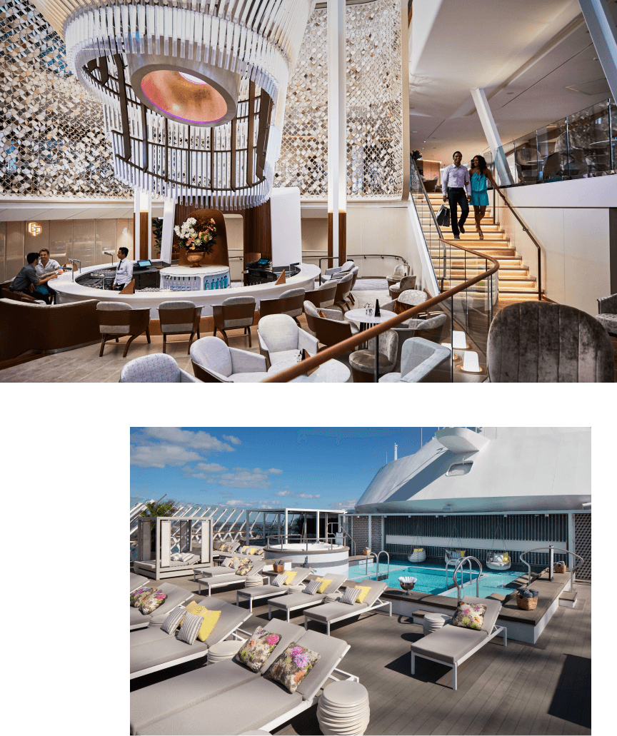 cruiseship interior and deck