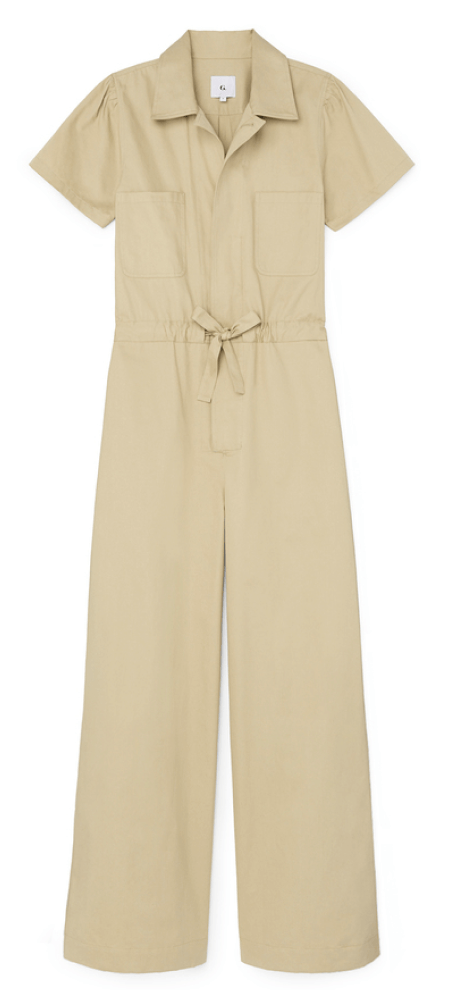 G. Label christina wide-leg shirt jumpsuit