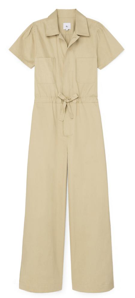 G. Label christina wide-leg shirt jumpsuit