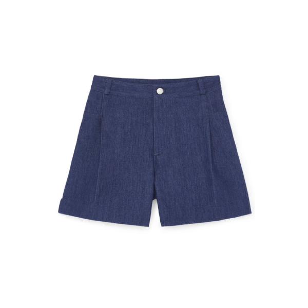 summer wide leg denim short