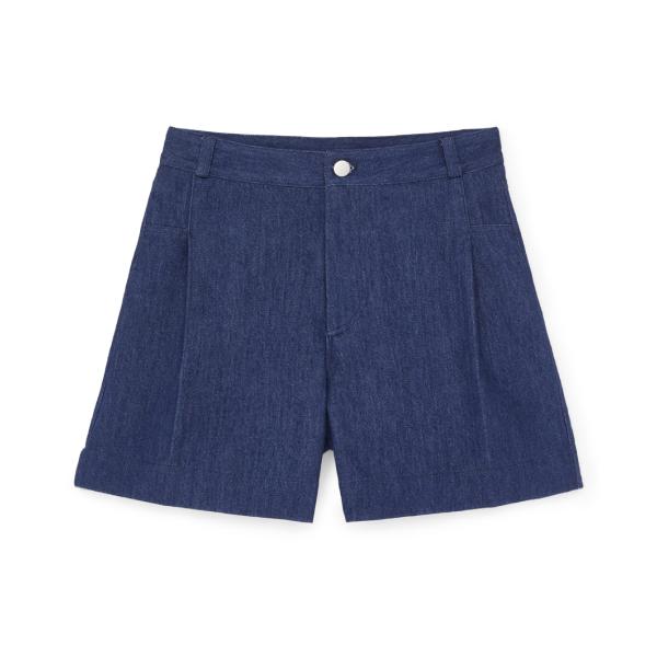 G. Label Summer Wide-Leg Denim Shorts