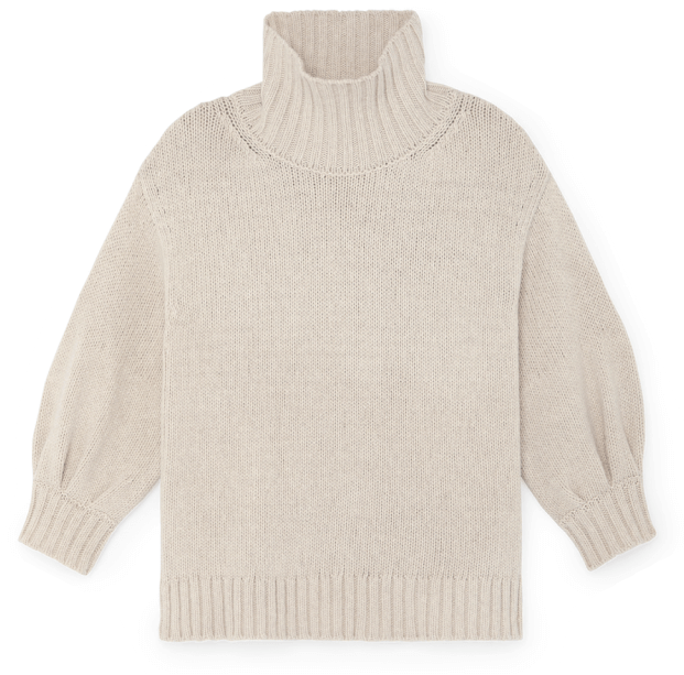 g label evangelyn puff-sleeve sweater