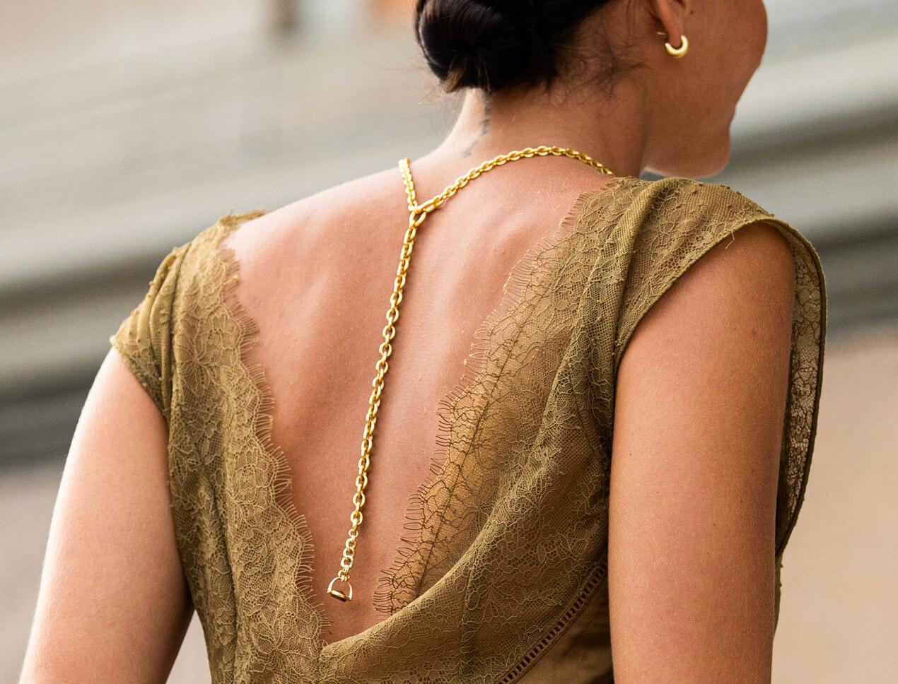 Women wearing necklace