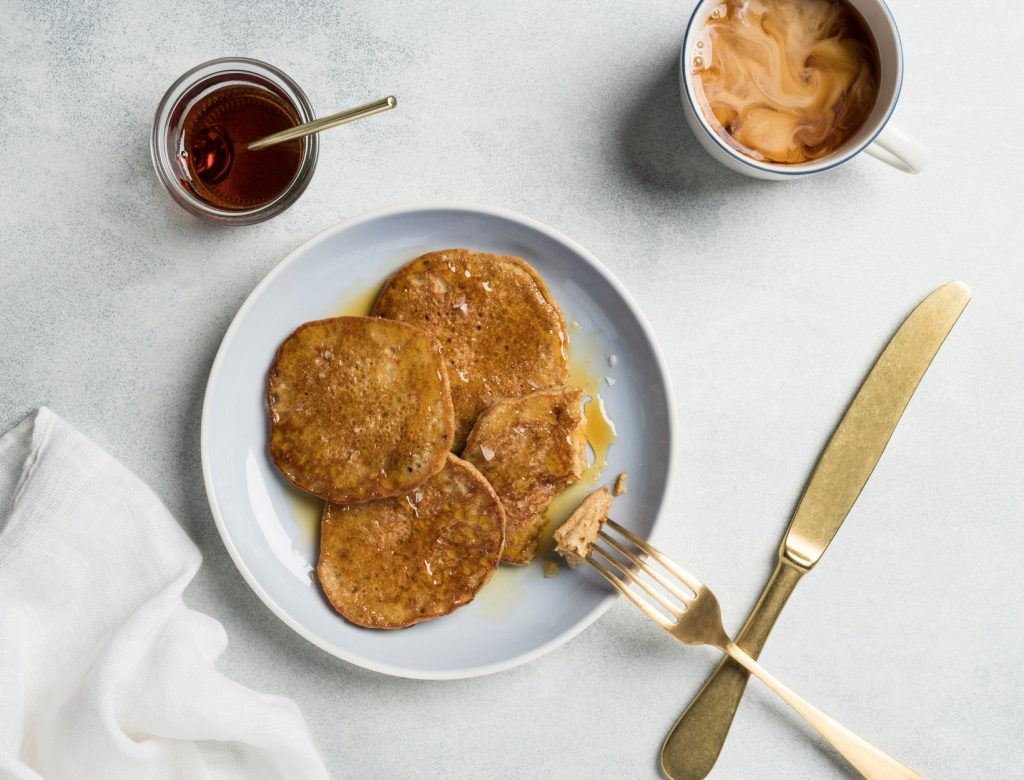 Banana Cinnamon Socca Pancakes