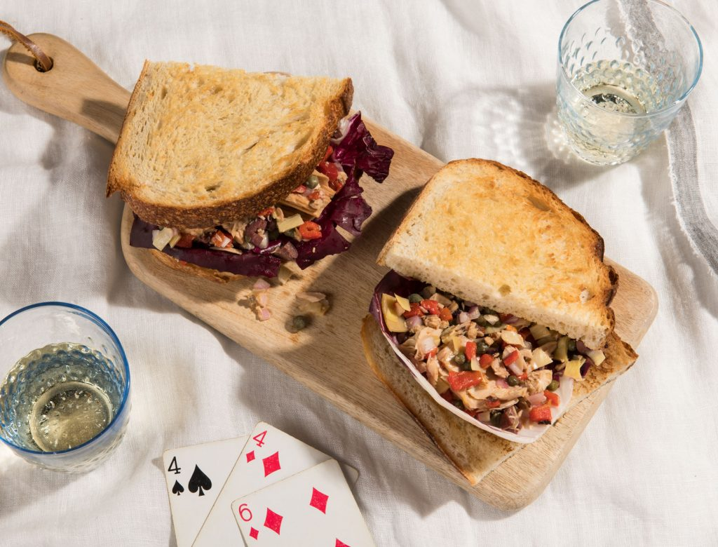 Provençal Tuna Sandwiches with Radicchio