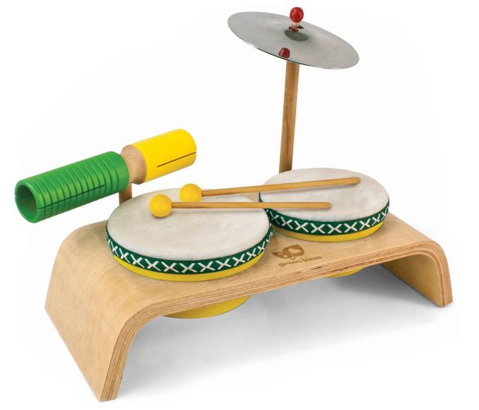 Green Tones Drum Set