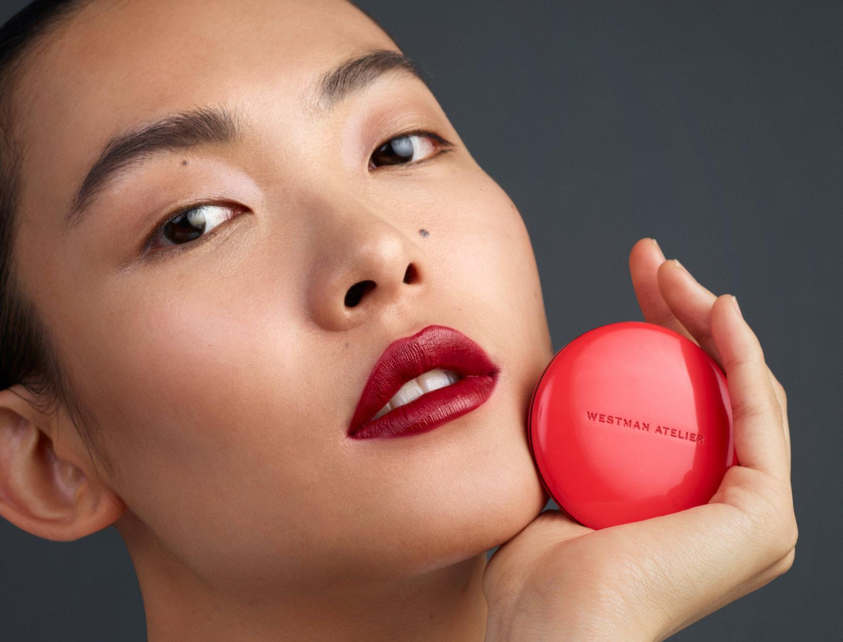 girl wearing lipstick