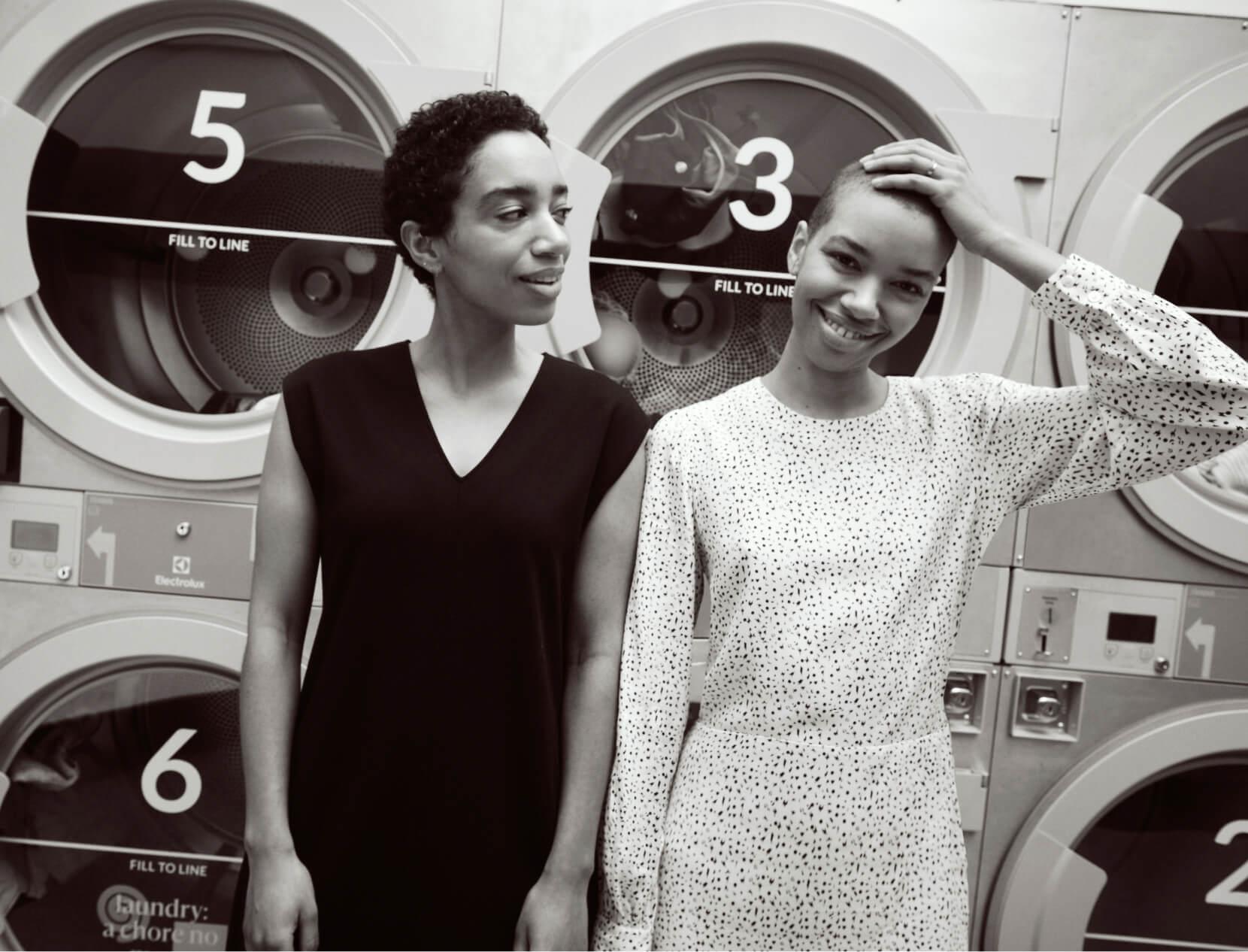 Women in laundromat