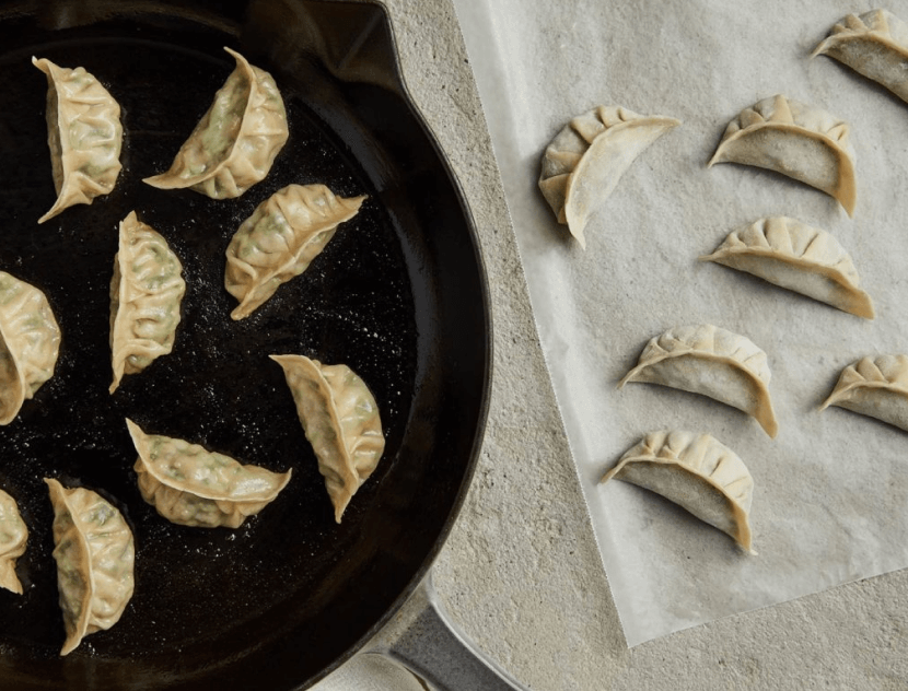 potstickers on a plate