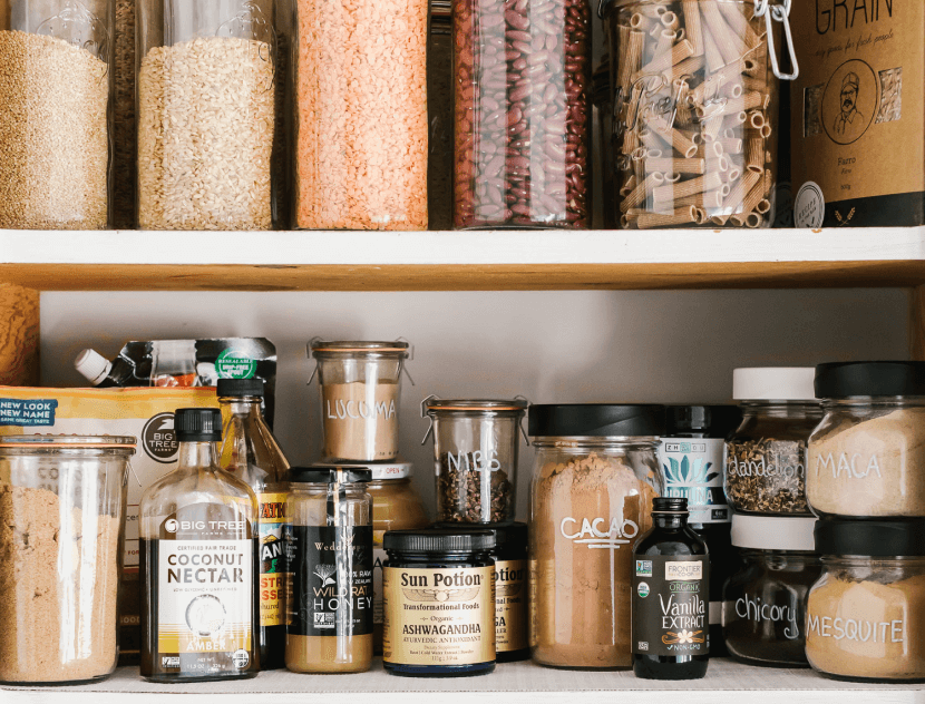 spices in a pantry