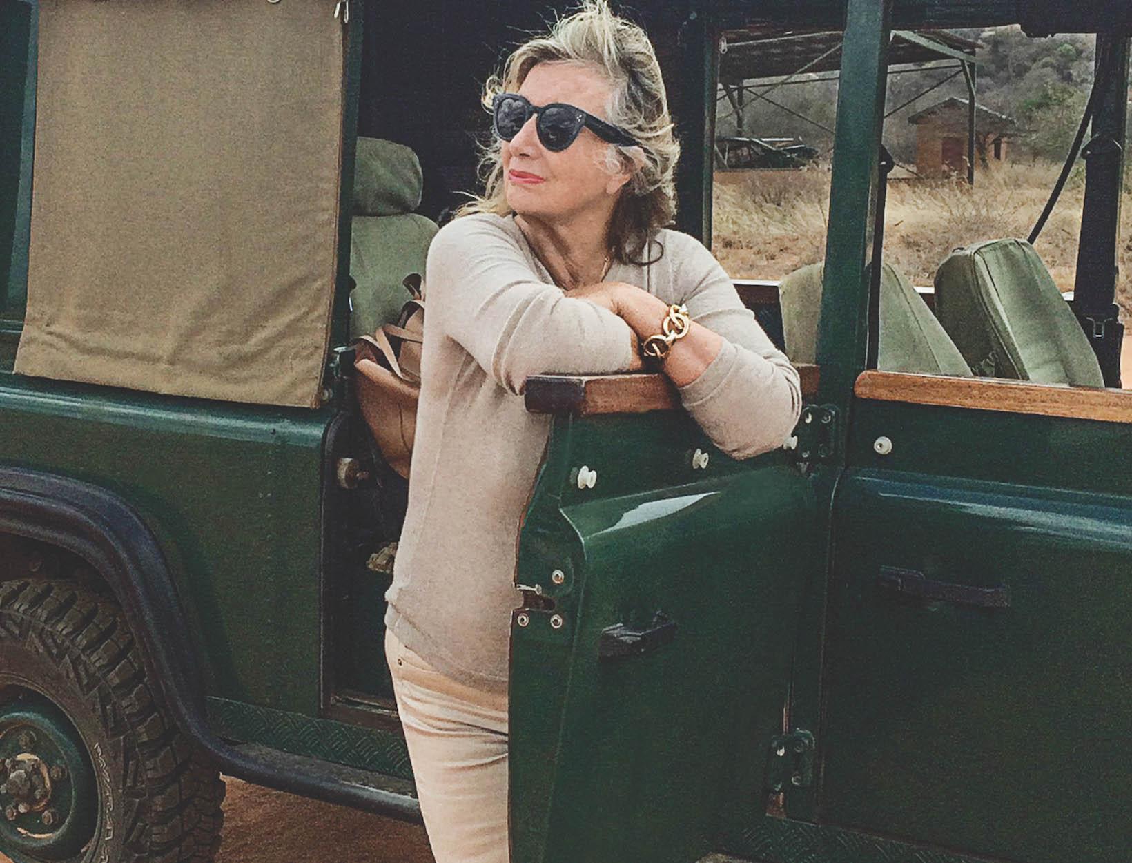 Chantecaille in car