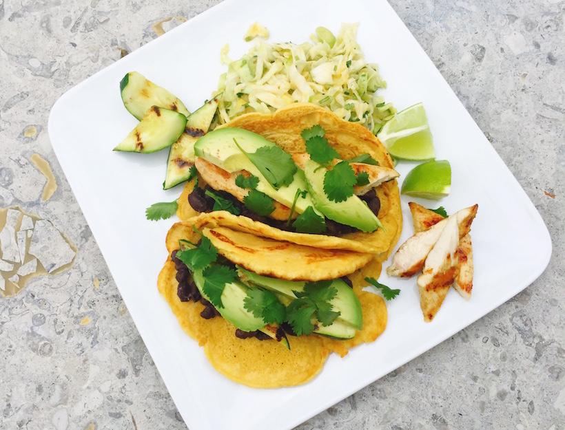 Grilled Zucchini Socca Tacos