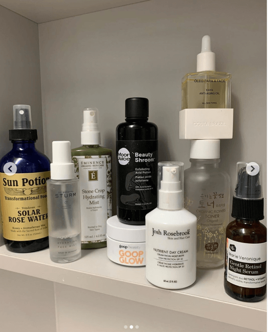 goop products on a shelf