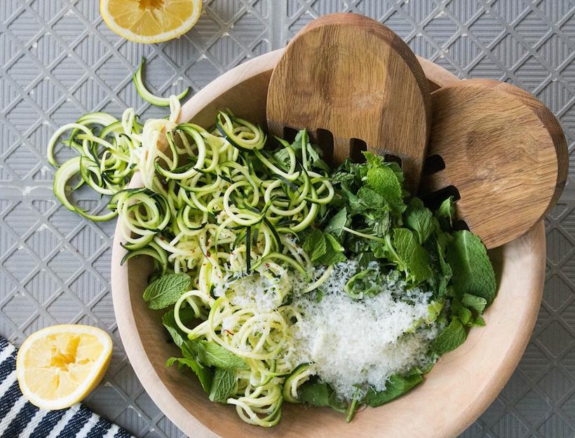 Zucchini Salad with Arugula, Mint, and Lemon