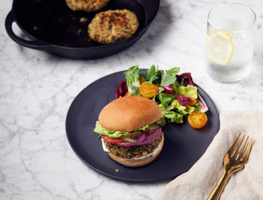 Cannellini Bean and Quinoa Burgers