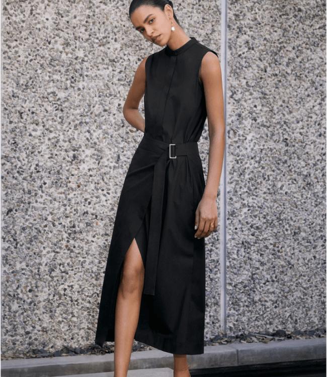 girl in long black dress