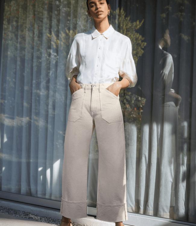 girl in white jean