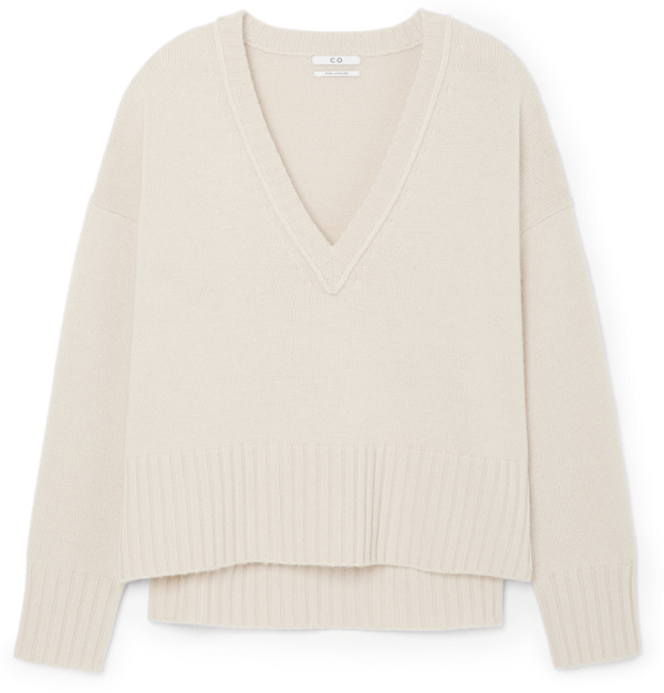 Co V-NECK SPLIT-HEM SWEATER