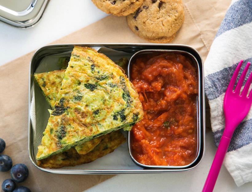 Broccoli and Spinach Tortilla