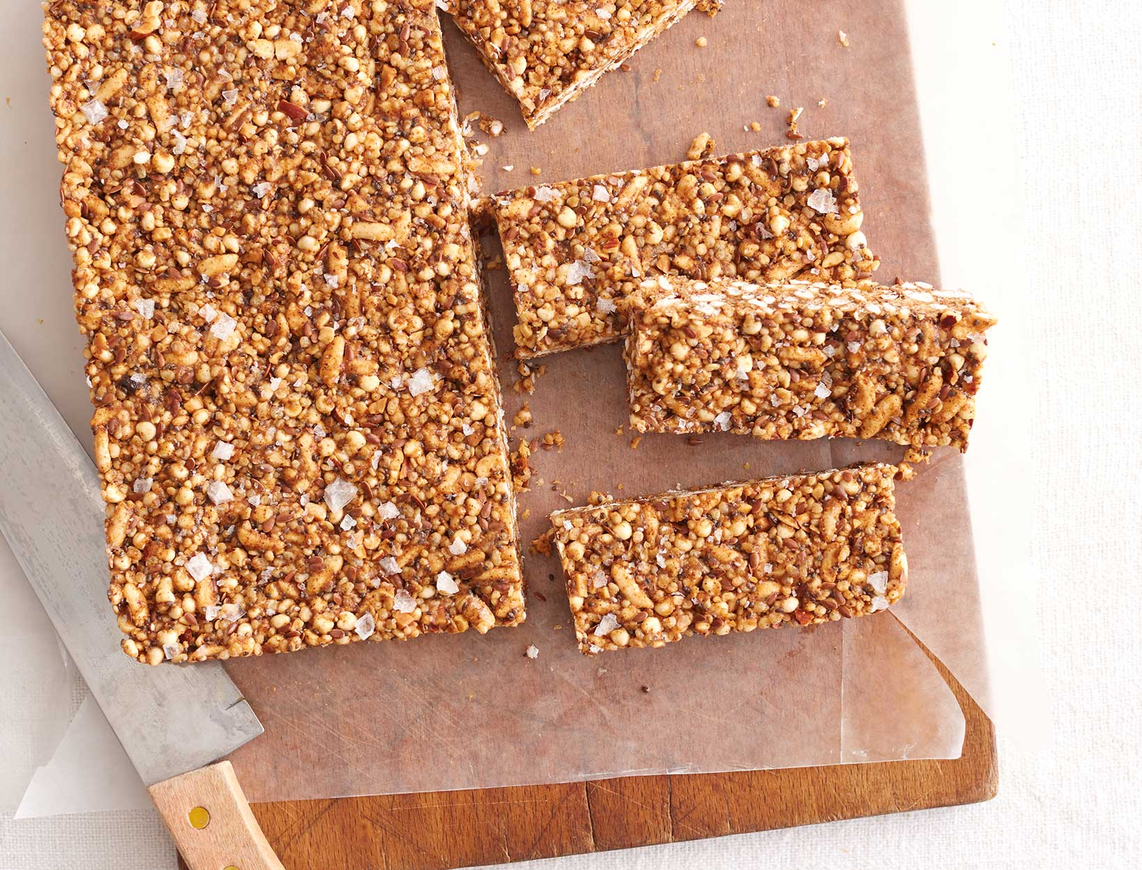 Grown-Up Cereal Bars with Almond Butter, Espresso, and Cardamom