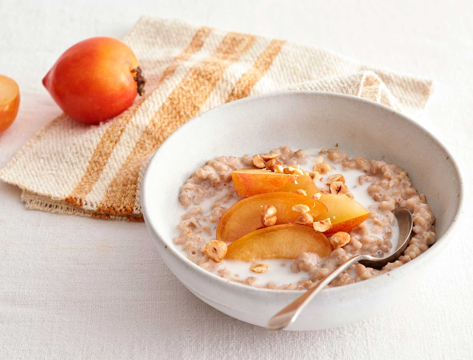 Tea-Steeped Barley Porridge