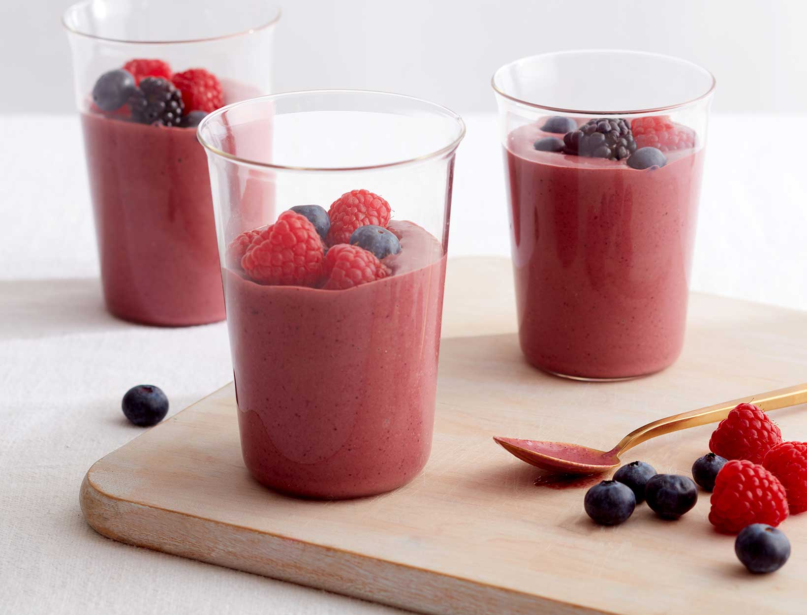 Triple Berry Ginger Smoothie