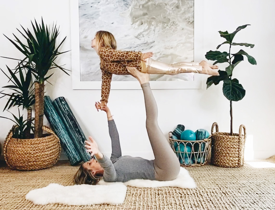 15 Minute Mommy And Me Yoga Video With Lauren Roxburgh Goop
