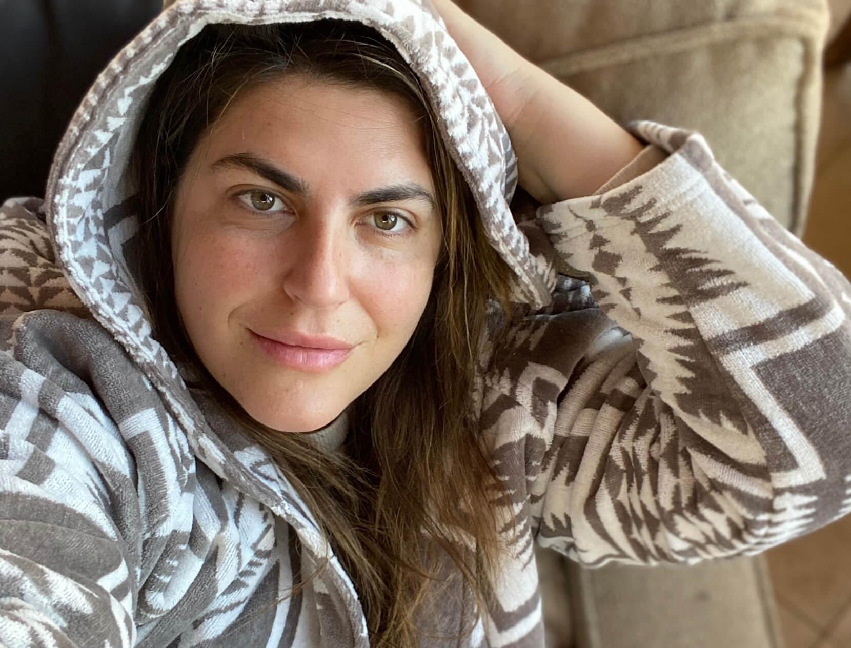 Katie Sturino in hoodie