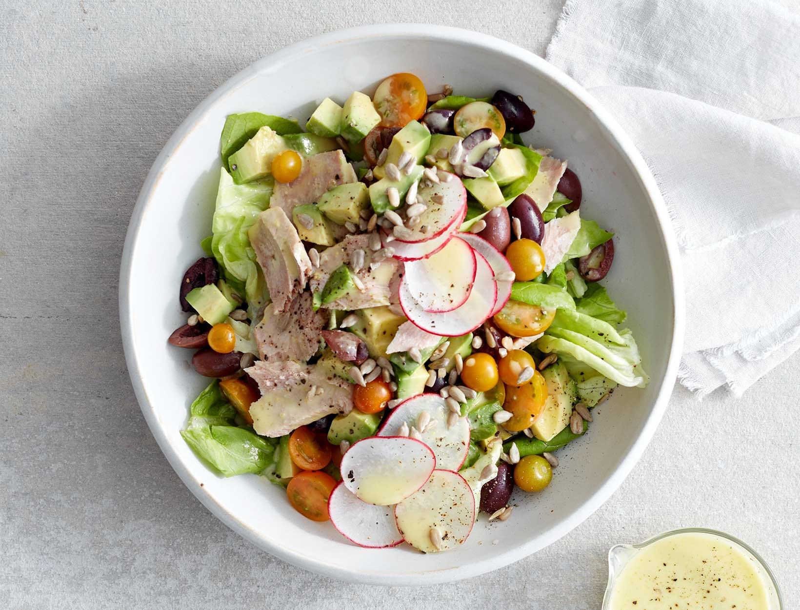 Bibb, Avocado, and Tuna Salad with Tarragon DijonDressing