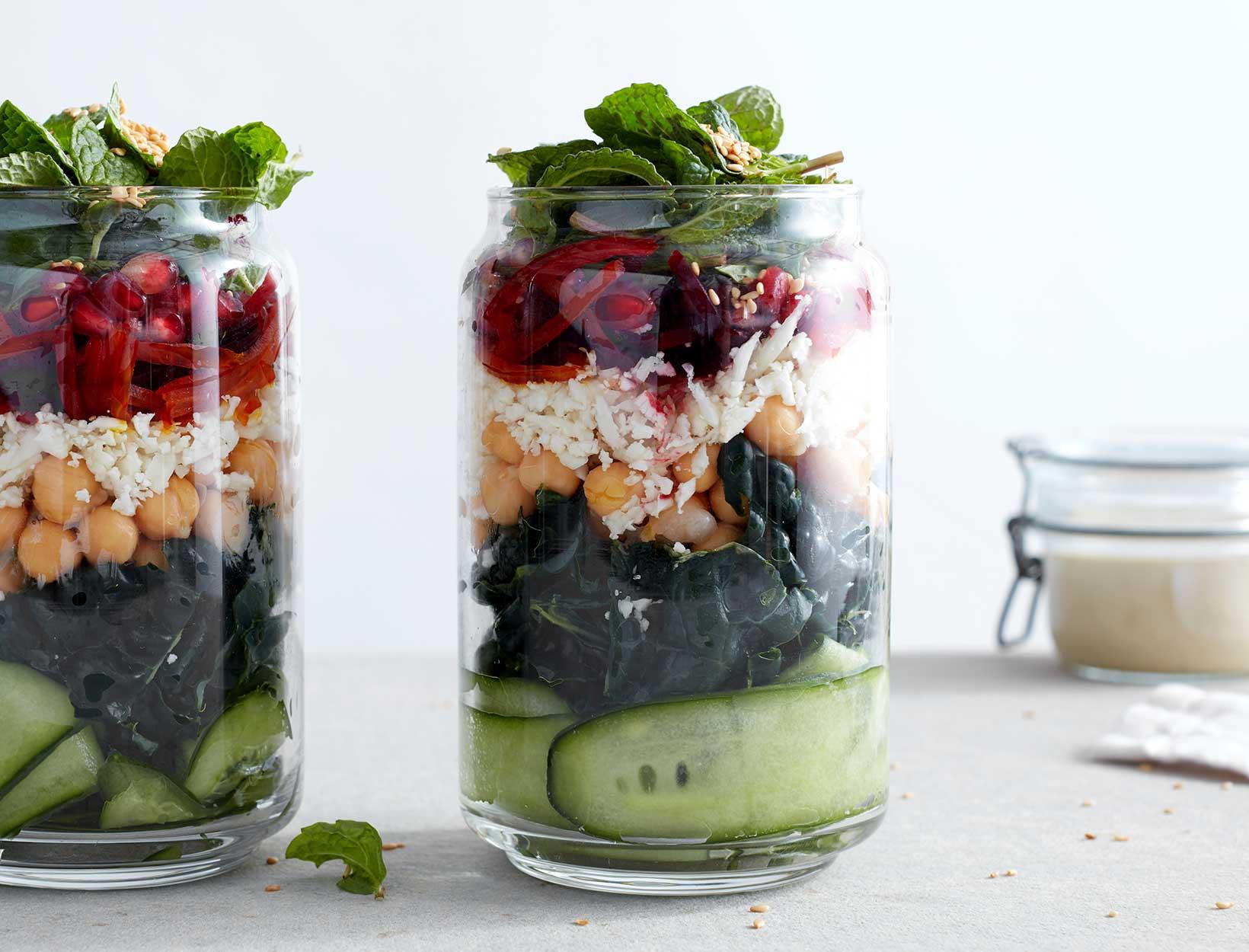 Kale Salad with TahiniDressing