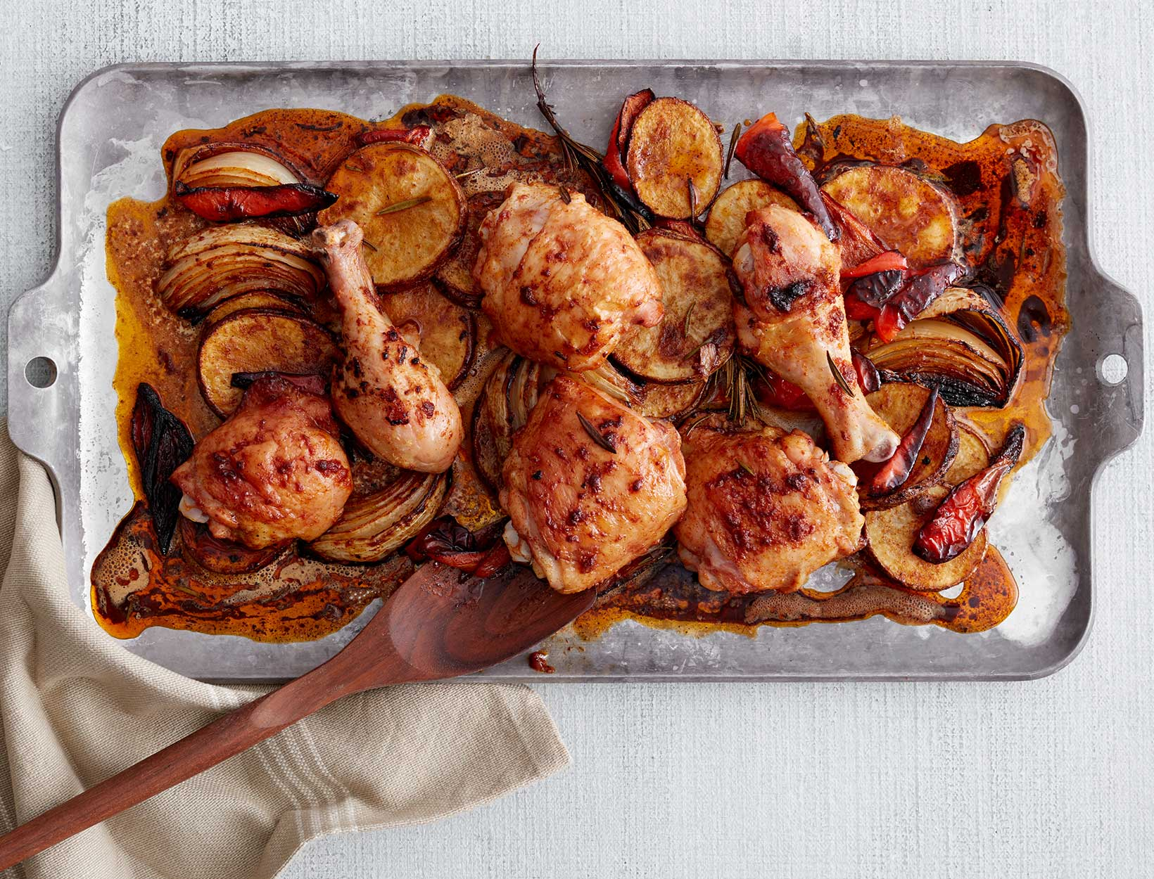 Chicken, Potatoes, and Peppers with Smoked Paprika and SherryVinegar