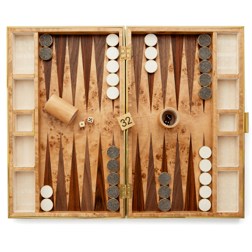 Aerin Shagreen Backgammon Set