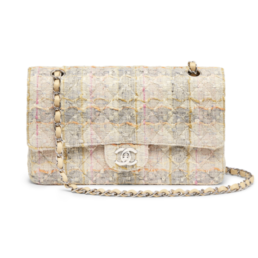 "CChanel Multi Tweed 2.55 10"" Bag"