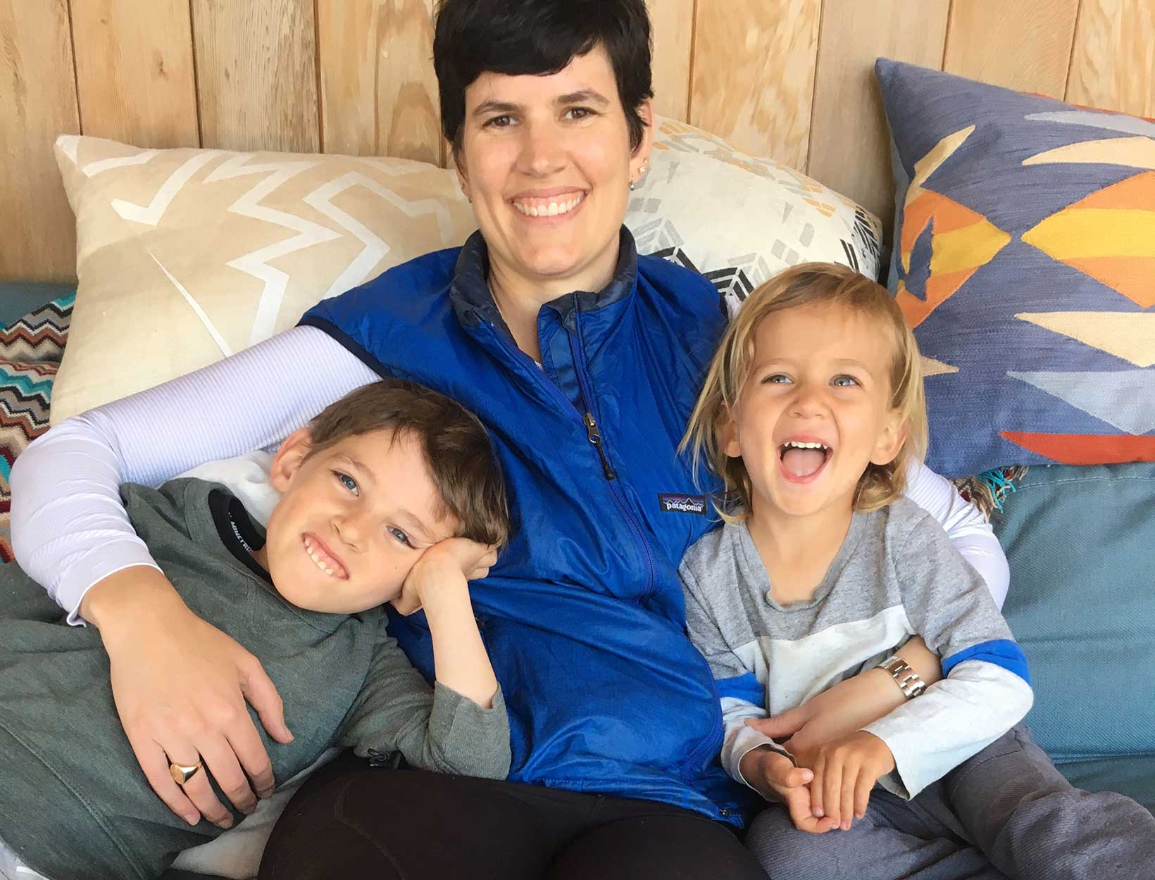 Elise and children