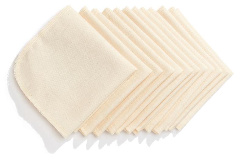 Natural Linens Boutique Organic Cotton Paper Towels, Set of 12