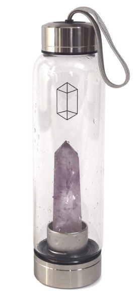 Glacce amethyst crystal-infused water bottle