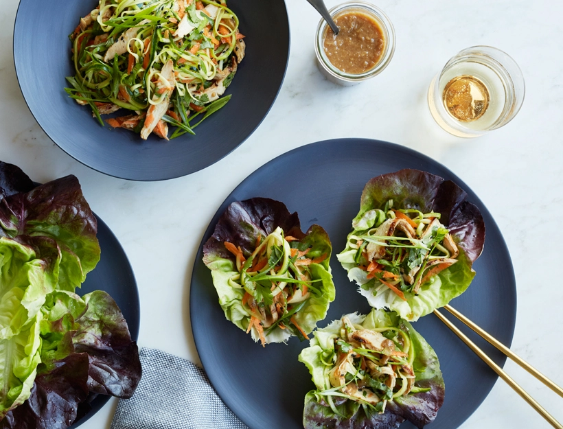 Zucchini and Chicken Lettuce Cup Salad
