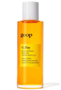 g.day black pepper rose hip energy body oil