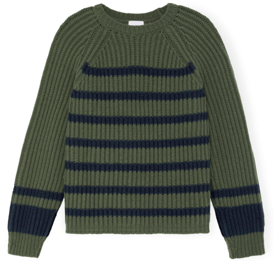 g. label MIYA STAND-COLLAR RIB SWEATER